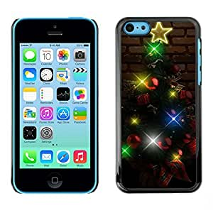 YOYO Slim PC / Aluminium Case Cover Armor Shell Portection //Christmas Holiday Lighted Tree 1119 //Apple Iphone 5C