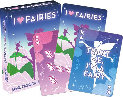 Aquarius I Heart Fairies Playing Cards Playing Cards