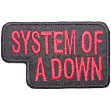 """SYSTEM OF A DOWN Rock Band """"SOAD"""" Logo Shirt jacket Patch Sew Iron on Embroidered Sign Badge Approx: 3""""/8cm x Approx: 2""""/5cm By MNC Shop"""