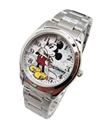 """Disney Unisex Watch Mickey Mouse """"Vintage"""". Analog Large Display. Glow In The Dark Hands."""