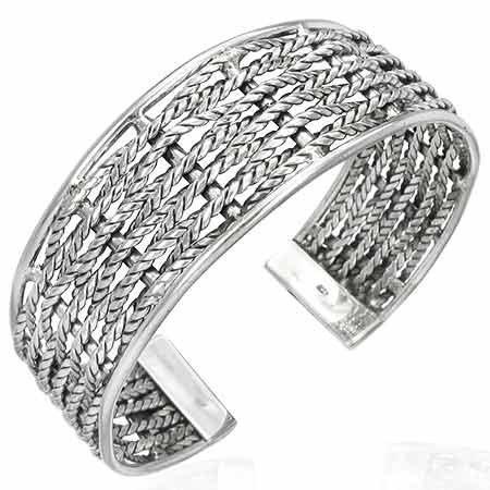 925 Sterling Silver Wide Half