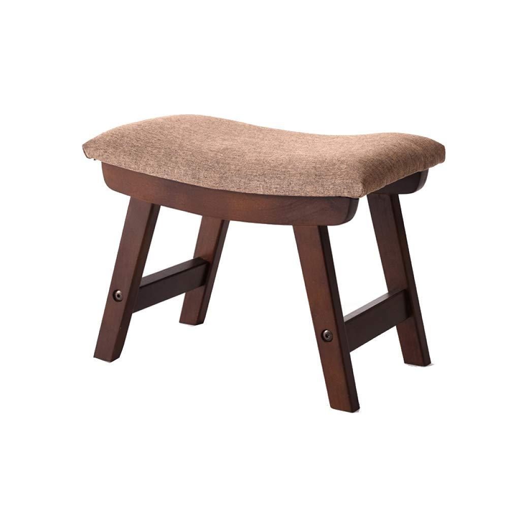 H+382429cm Sofa Stool Solid Wood Stool Upholstered Fabric Change shoes Stool Living Room Stool Fashion Creative Small Bench NonSlip NonRust,B+38  24  29cm