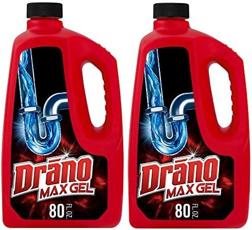 [해외]Drano 맥스 젤 배관 세척제 2.4L 08857001544 1 1 / Drano Max Gel Clog Remover, 80 Fl. Oz (2 Count)