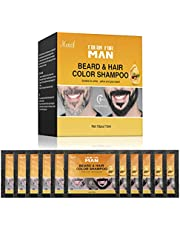 MGLIMZ Beard Coloring For Men for Gray Hair to Black, Men's Beard Dye Instant Black for Fast, Easy Use, Maintain Beard Color for Men's Grooming(10 PCS)