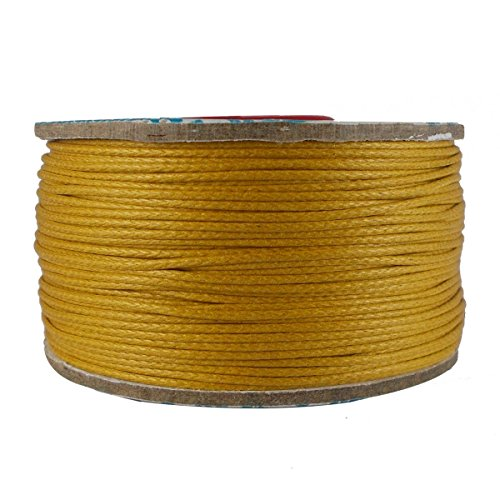 (Cotton Wax Corduroy Jewelry Making Bracelet Necklace Knitting Crafting DIY Beading Golden Yellow Cord Craft String 1 Roll Thread 0.5 mm {540})