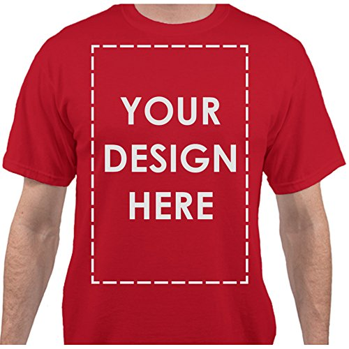 Own Red T-shirt - Add Your Own Custom Text Name Personalized Message or Image Red T-Shirt - Large