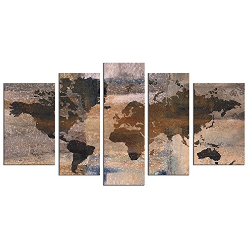 Large World Map Wall Art Wall Decor Paintings On Canvas Prints For Living Room Wall Art Oil Paintting For Home Decor Landscape Canvas Artworks Framed Ready To Hang 10
