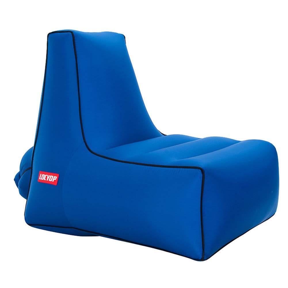 bleu Supergrand LUCKME portable Lazy Gonflable Lounger, Premium imperméable à l'air Sofa canapé pour Camping randonnée Piscine Piscine Jardin Cour-Max Poids pour 200KG,lakevert,petit