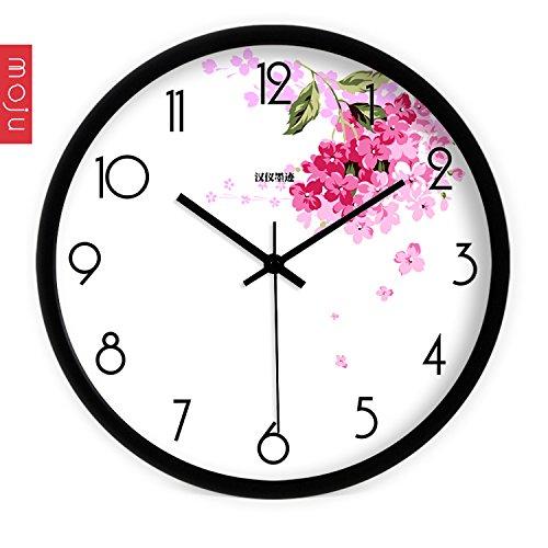 (Gyps wall clock Unique Contemporary Style Wall Clock Silent Wall Clock Non-Ticking Battery Operated Wall Clock The Creative Modern Art Modern Warm Pink Petals Wall Clock li)
