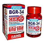 5 packs of BGR-34 TABLETS 100% NATURAL HERBAL Blood Glucose Metaboliser Research product of C.S.I.R.