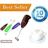 Mini Hand Milk Frother | Battery Operated Form Maker Frother for Milk, Butter Milk, Cold Coffee, Cappuccino (Black)