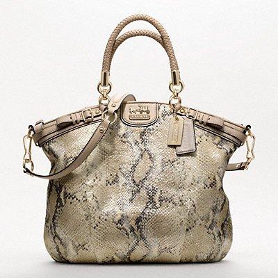 90e2bad8d0b Coach Madison Embossed Metallic Python Lindsey 18941  Handbags ...