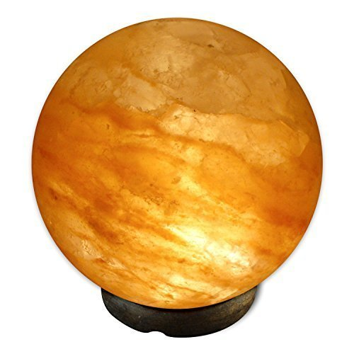 Crystal Allies Gallery CA SLS-Orb-S Natural Himalayan Globe Salt Lamp Ionic Air Purifier on Wood Base with Cord