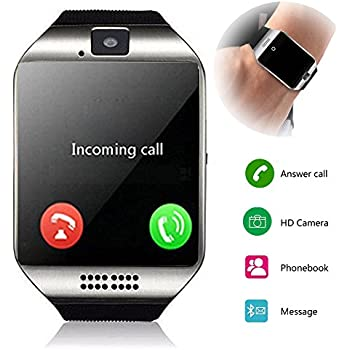 Smartwatch Unlocked Watch Cell Phone All in 1 Wireless Smart Watch with Camera Handsfree Call for Samsung LG HTC Motorola Huawei Xiaomi and Other Android ...
