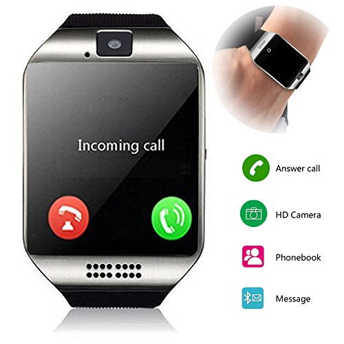 Smartwatch Unlocked Watch Cell Phone All in 1 Wireless Smart Watch with Camera Handsfree Call for Samsung LG HTC Motorola Huawei Xiaomi and other Android Smartphones Men and Women Birthday Gift by Agkey