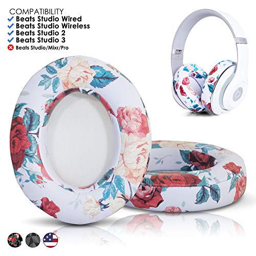 (Beats Replacement Ear Pads - Beats Studio Over-Ear (Does not fit Beats Solo)   White)