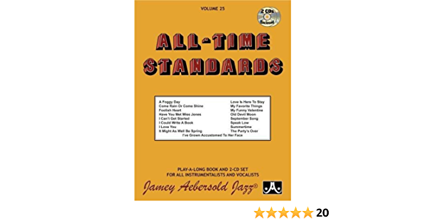 2CDs Aebersold 25 ALL TIME STANDARDS