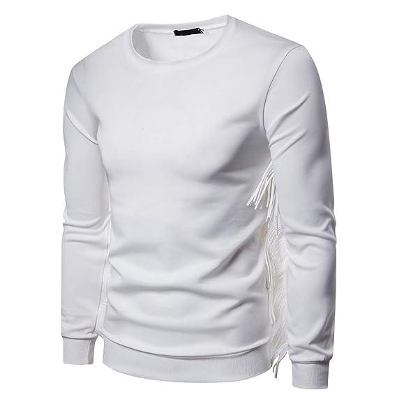 Blusa con Capucha y Capucha de Manga Larga con Flecos en Ante de algodón Casual otoñal