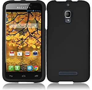 For Alcatel One Touch Fierce 7024W Cover Case (Hard Black)
