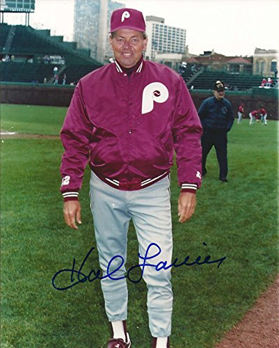 Hal Lanier Autographed Phillies 8 x 10 Photo 2