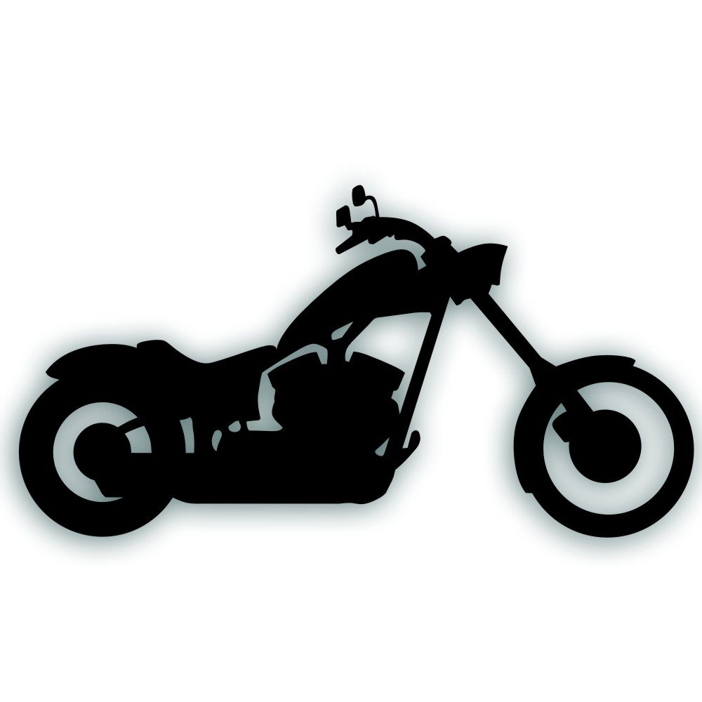 Amazon com solar graphics usa motorcycle decal chopper custom big dog iron horse bobber for your bike tow vehicle or trailer 5 3 4 x 11 inch in black
