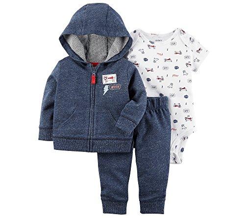 Carter's Baby Boys' 3 Piece Little Jacket Set 3 Months Blue