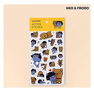 KAKAO FRIENDS Action Sticker. Neo. Frodo: Toys & Games