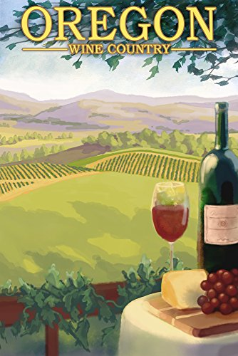 - Oregon - Wine Country (24x36 Giclee Gallery Print, Wall Decor Travel Poster)