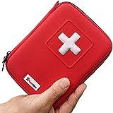 MediSpor 100-Piece First Aid Kit, Red Hard Case