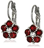 1928 Jewelry Crystal Flower Drop Earrings
