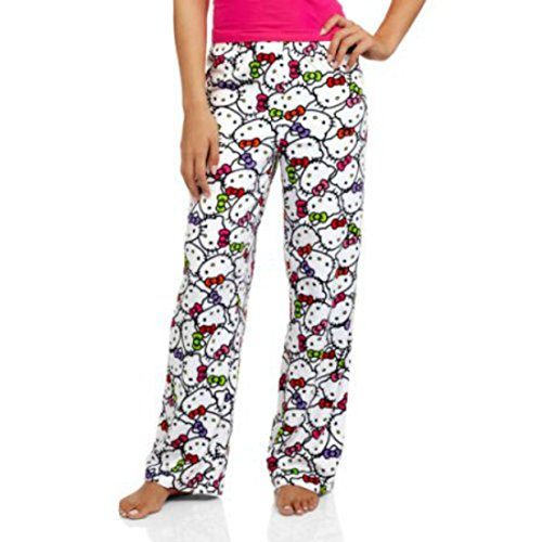 Hello Kitty Ladies Nighty Night Microfleece Sleep Pants (L (12/14)) (Chip And Dale Costumes)