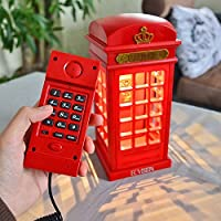ECVISION Vintage Corded Telephone Two-in-one Landline Phones with Designed USB Charging LED Touch Dimmable Night Light Novelty Home Telephone Office Fixed Line Phone & Desk Lamp