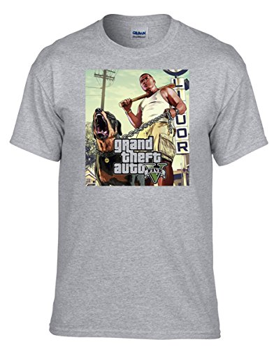 GTA V GTA 5 Grand Theft Auto 5 Rockstar Jogos Games T-shirt -290 Grau