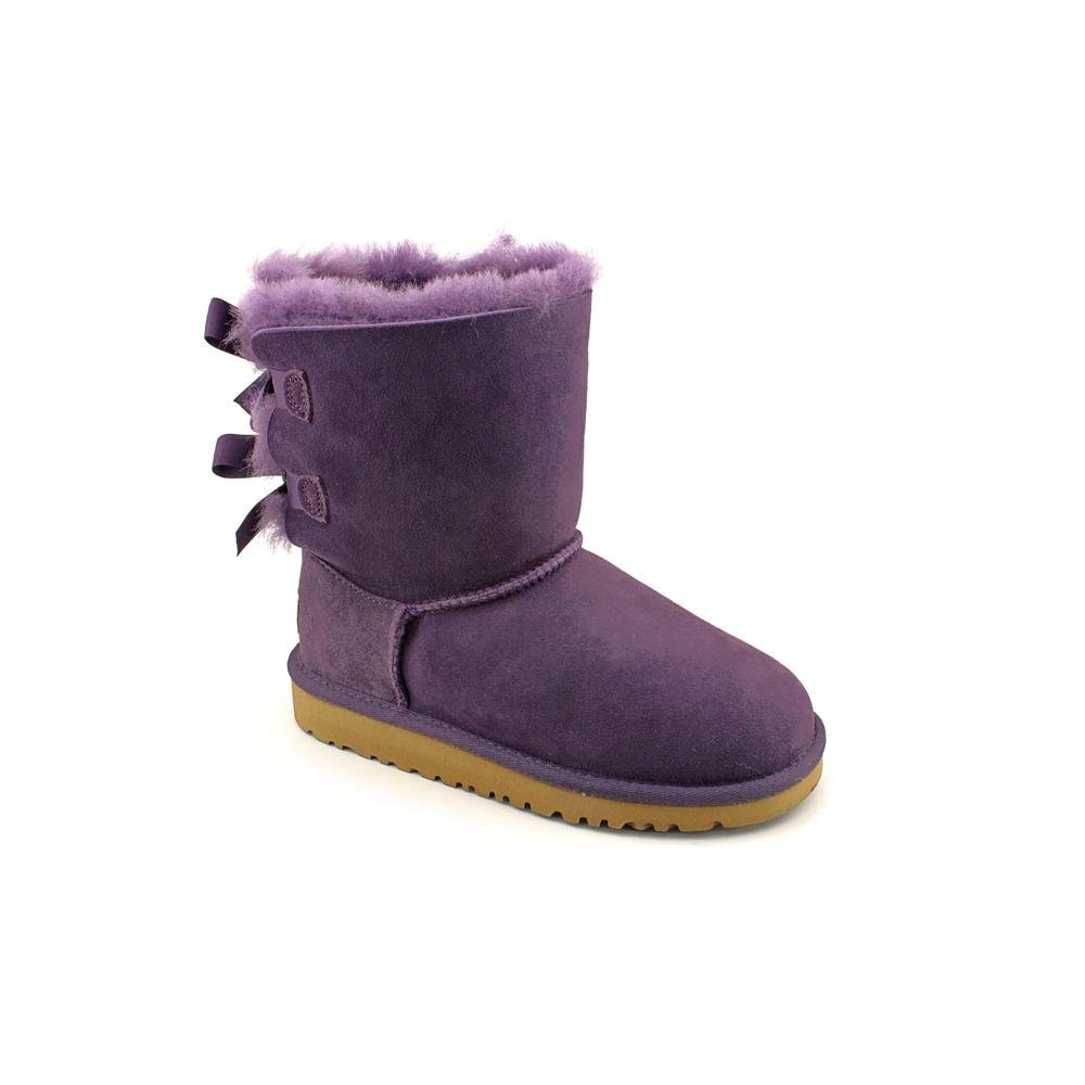 UGG Australia Girls Bailey Bow Shearling Boot Petunia Size 5 by UGG