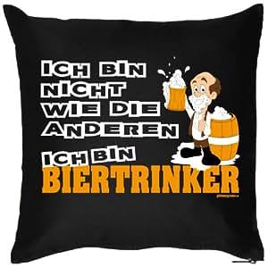 Divertido FUN Party almohada (sin relleno) para Volkswagen fijo/dult/Oktoberfest: bebedores de cerveza con barril de cerveza Prost Muñeco de espuma Barba