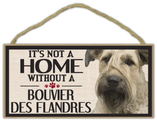 Wood Sign: It's Not A Home Without A BOUVIER DES FLANDRES | Dogs, Gifts