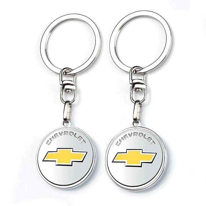 Longzheyu New Car Key Chains Car Logo Key Chain Key Ring 3D Metal Emblem Pendant for Chevrolet Gift Birthday Present Festival Gift for Men and Woman