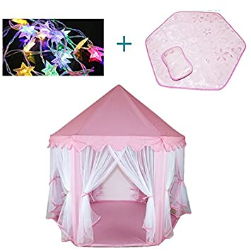 Kids Playhouse Tent Sets Childrenu0027s Princess Play tent Castle Hexagon Playhouse Missingift Pink Kids Playground with  sc 1 st  Amazon.com & Amazon.com: Kids Playhouse Tent Sets Childrenu0027s Princess Play tent ...