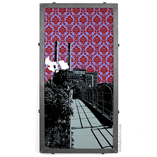 heinz-factory-framed-silkscreen-print-in-handcrafted-welded-frame-with-damask-pittsburgh-pa