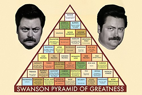 Parks and Recreation Swanson Pyramid of Greatness Poster 24x