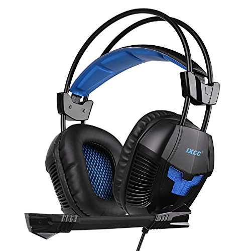 iXCC Gaming Headset, Surround Stereo Sound Noise Isolating Headphone with in-line Control for PC, MAC, Xbox One/S, PS4, VR, Playstation 4 or More (Best Xbox 360 Games To Play With Your Girlfriend)