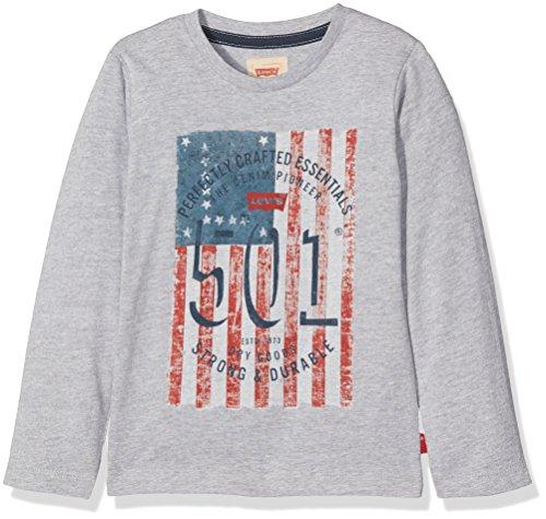 Tee Kids Levi's T Chiné Clair gris Flagg shirt Ls Garçon Gris EFdqq1O