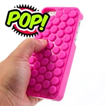 Pop Bubble Case for iphone 6/6S Plus,Pop Pop Pop Novelty Sound Bubble Wrap Hybrid Silicone Hard Case Shell Cover for Apple iphone 6/6S Plus 5.5 inch (Bubble Rose)