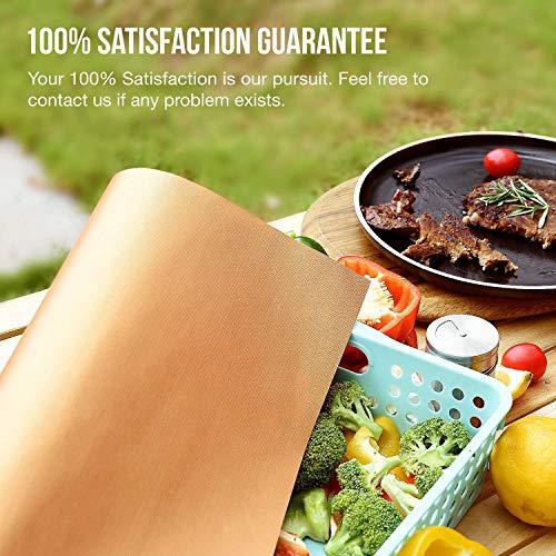 "Looch Grill Mat Set of 6 100/% Non-stick BBQ Grill  Baking Mats Black 15.75 x 13/"""