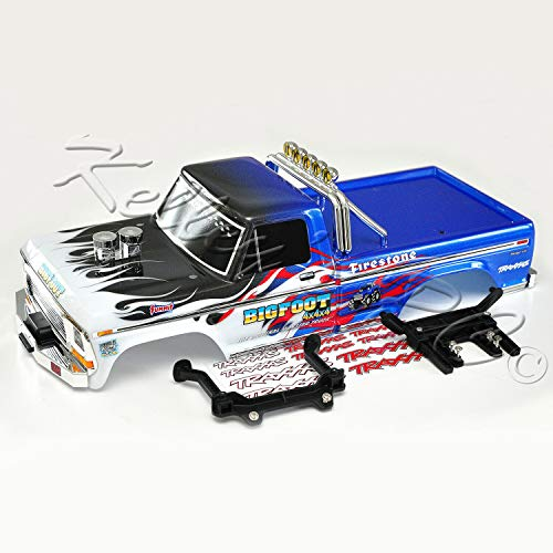 Traxxas Bigfoot #1 Body Flame Edition Bundle with mounts for 2WD Stampede