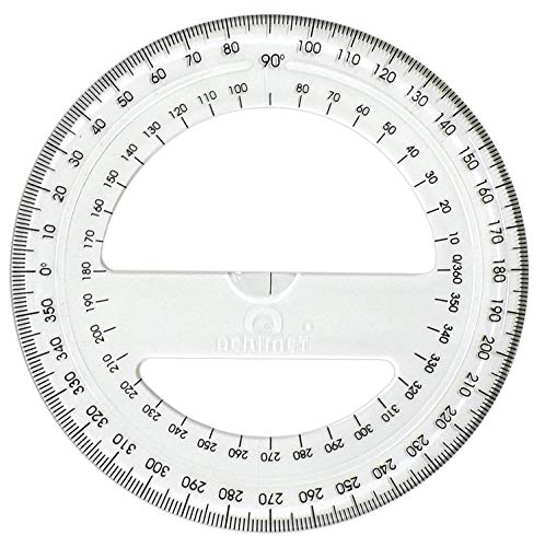 Acrimet 360º Degree Protractor Premium (Clear Crystal Color)
