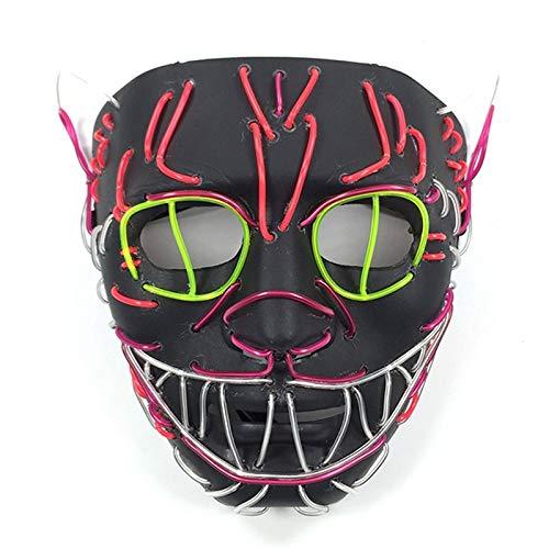 LED King Cat Mask para la decoración de la Fiesta de ...