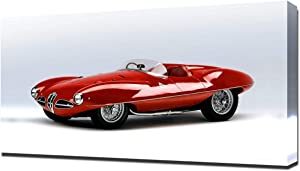Lilarama USA 1952 Alfa Romeo C52 Disco Volante Touring Spider V1 - Canvas Art Print - Wall Art - Canvas Wrap