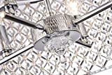 Marya 4-Light Chrome Round Shade Crystal Semi Flush