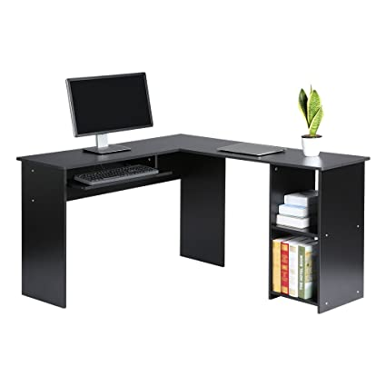 LANGRIA L-Shaped Corner Computer Desk Home Office Work Station with Large and Spacious Wooden  sc 1 st  Amazon.com & Amazon.com: LANGRIA L-Shaped Corner Computer Desk Home Office Work ...